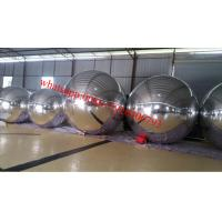 PVC Silver Inflatable Advertising Balloons , Outdoor Stage Decoration Ball 3m Manufactures
