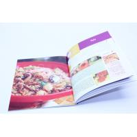 Quality Customized A4 Cookbook Printing Hardcover Binding With Glossy Lamination for sale