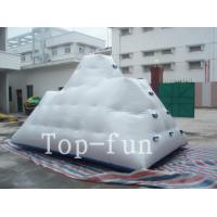 Backyard Inflatable Water Park Iceberg For Lake / River / Swimming Pools Manufactures