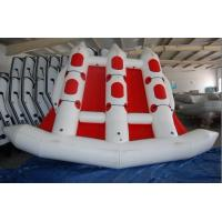 Red 380cm Length Six Person Inflatable Flying Fish Boat With 10 Chamber Manufactures
