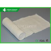 China Hospital Gauze / Absorbent Gauze Roll For Wound Care , Bleached White on sale