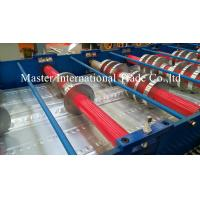 High Speed Steel Structural Metal Deck Roll Forming Machine With Pre - Cutting Manufactures