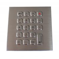19 Keys Water Proof Metal Keypad Stainless Steel PS2 USB RS232 RS485 available Manufactures
