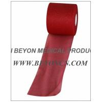 No Adhesive Breathable Sports Pre - wrap Tape For Skin Protection red color Manufactures