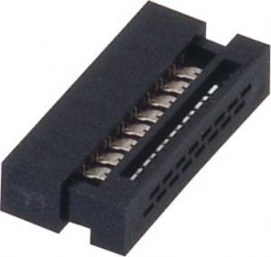 1.27mm 16 Pin Idc socket  Connector PBT black  30%GF UL94V-0  ROHS Manufactures