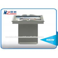White Color LCD Panel Self Service Library Kiosk , Library Self Checkout Kiosk Machines Manufactures