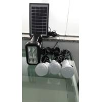 Rechargeable New energy 4W DIY solar home lighting kits with 3 led light for 3 rooms lighting for off-grid area Manufactures