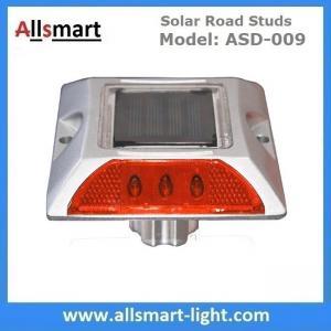 6 LED Solar Road Studs Solar Driveway Warning Lights Solar Highway Marker Lights Pedestrian Crossings Warning Lights Manufactures
