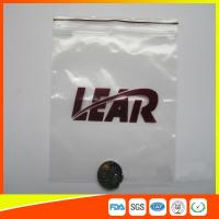 PVC Poly Plastic Packing Ziplock Bags Waterproof  Resealable With Zipper Manufactures