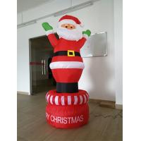 190D Oxford Red And White Inflatable Santa Claus For Christmas Day Manufactures