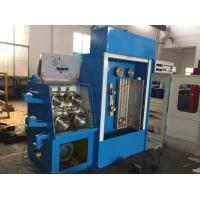 Industrial Fine Copper Wire Drawing Machine With Double Spoolers Easy Maintenance Manufactures