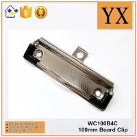 Checkered Nickel Plate Metal A5 A4 A3 Paper Clipboard Clip With Plastic Rubber Corner Manufactures