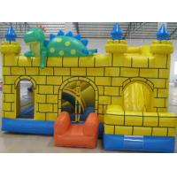 0.55mm PVC Tarpaulin Kids Inflatable Sports Games , Moonwalk Commercial Bouncy Castle Manufactures