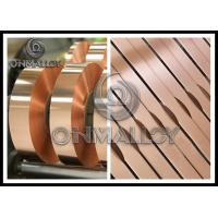 China 0.005mm~1mm thickness,Power Transformers Pure Copper Strip Elongation Good Corrosion - Resistance,bright surface on sale