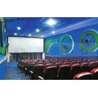 4D Cinema Equipment Electric Pneumatic 3 Seat / 4 Seat Motion Chairs Leather Manufactures