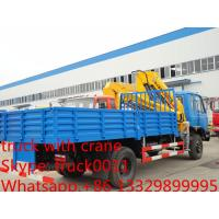 factory direct sale best price CLW truck with boom crane, Hot sale dongfeng 170hp 6tons truck with folded crane Manufactures