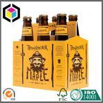 CMYK Full Color Printing 6 Pack Beer Carrier Box; 330ml Beer Bottle Carrier Manufactures