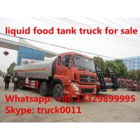 Quality hot sale 25,000L fresh milk tank truck,Dongfeng tianlong 8*4 25m3 stainless steel milk tank delivery truck for sale for sale