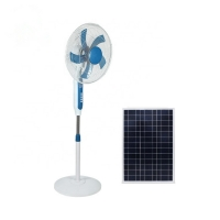 AC DC 120cm Height 16'' Solar Rechargeable Fan SAA Metal Blade Manufactures