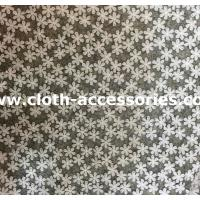 Applique All Over Bridal Tulle Lace Fabric Trimmings With Snow Flower Manufactures