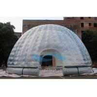 6M Dia Double Layer Bubble Tent Night Advertising Inflatable Clear Dome Tent Manufactures