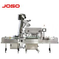 China Automatic online straight plastic cork bottle filling capping and labeling capping machine for various cap-rotating on sale