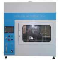 PLC Touch Screeen Flammability Tester Needle Flame Test Apparatus For Cable Manufactures