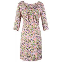 Beautiful Summer Round Neck Ladies Casual Dresses , floral print dresses for women Manufactures