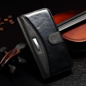 Quality No Scratch Iphone 7 Leather Wallet Case , Paint Oil Split Vintage Wallet Case for sale