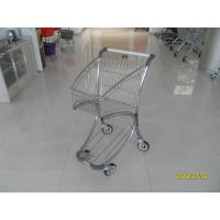 Zinc Plated PPG Powder Coating  Market Shopping Trolley With Elevator Casters Manufactures