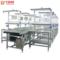 White Heavy Duty ESD Safe Workbench , Customized Anti Static Workbench With LED Light Manufactures