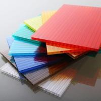 Customized Length Flat Polycarbonate Roofing Sheets For Construction / Decoration Manufactures
