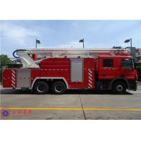Quality Benz Chassis Water Tower Fire Truck Max Power 320KW Hydraulic System Pressure for sale