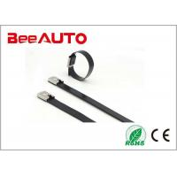 Coated Stainless Steel Cable Tie High Tensile Strength High Resistance To Acetic Acid Manufactures