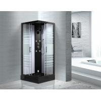 Quality Matt Black Profiles Sliding Glass Door Shower Enclosure Kits For Star-Rated for sale
