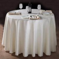 China 100%polyester minimatt round table cloth/hotel table cloth/wedding table cloth/jacquard textile could match with napkin on sale