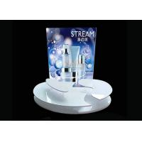 Advertising Sticker Printing White Acrylic Makeup Display Stand 4mm 5mm Thickness Manufactures