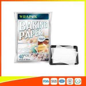 Waterproof Baking Paper Sheets / Non Toxic Parchment Paper Heat Resistant 20 * 30cm Manufactures