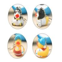 Children Funny Mini Duck Keychains Soft PVC Eco - Friendly Material OEM / ODM Manufactures