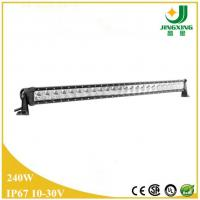 Made in China 240w single row led light bar 4wd off road led light bar Manufactures