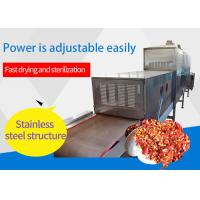 Fully Automatic Chili Drying Machine , Food Microwave Drying Machine Stainless Steel Manufactures