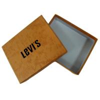 Quality Rigid Paper Gift Custom Boxes Printing Services for Packaging clothes with levi's logo for sale