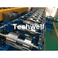 K Gutter, Round Gutter Cold Roll Forming Machine With Hydraulic Cutting PLC Control Manufactures
