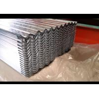 Quality Corrugated Galvanized Steel Sheet , Outer Wall Galvalume Steel Roofing for sale