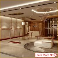 Modern fashion wooden stainless steel used retail clothing displays store fixtures with lighting Manufactures