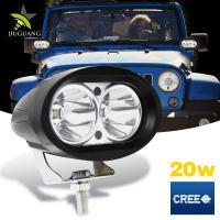 Super Bright 20w Motorcycle Off Road Led Work Lights 4 Inch 1500lm Three Color Manufactures