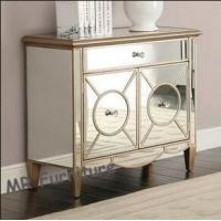 Gold Mirrored Door Cabinet Corner Chest Bed Side Table for Bedroom Furniture Manufactures
