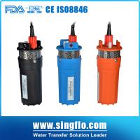 Singflo 12V DC 70 lift solar pump for deep well Manufactures