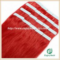"Tape Hair extension 16""-28""L,100s/pack red# color Straight malaysian virgin hair Manufactures"