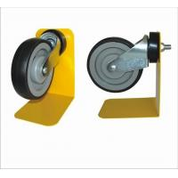 Black Trolley Locking Caster Wheels With 1 Year Warranty , Shopping Trolley Wheels Manufactures